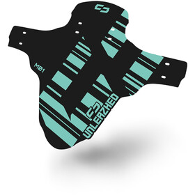 """UNLEAZHED Unsplash M01 Front Mudguard 26-29"""" incl. 4 Cable Ties turquoise"""